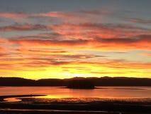 Заход солнца неба лета Стоковая Фотография RF