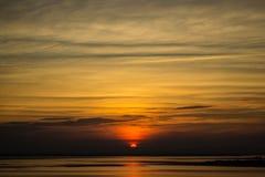 Заход солнца неба красоты стоковые изображения rf