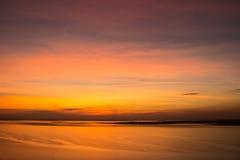 Заход солнца неба красоты Стоковое Изображение