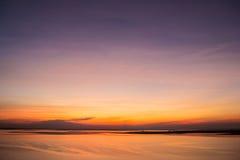 Заход солнца неба красоты стоковое изображение rf