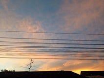 Заход солнца неба Стоковые Изображения RF