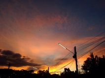 Заход солнца неба Стоковая Фотография