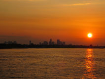 Заход солнца Нового Орлеана Стоковое Фото
