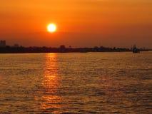 Заход солнца Нового Орлеана Стоковая Фотография RF