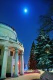 заход солнца ночи ландшафта dnepropetrovsk города Стоковые Фотографии RF