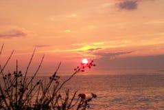 Заход солнца Ньюпорта Стоковая Фотография