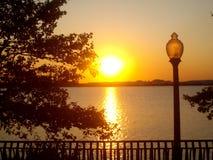 Заход солнца Нью-Джерси Стоковые Фото