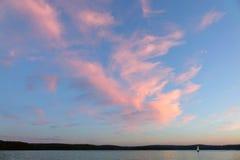 Заход солнца облака стоковое фото rf