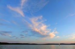 Заход солнца облака стоковые изображения