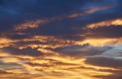 Заход солнца облаков кумулюса дождя Стоковые Фотографии RF