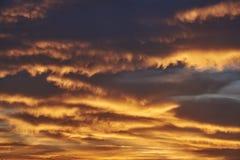 Заход солнца облаков кумулюса дождя Стоковое Изображение