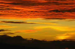 Заход солнца облаков кумулюса Стоковые Изображения RF
