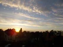 Заход солнца облаков небес Стоковые Изображения RF