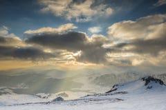 Заход солнца ожидает Стоковая Фотография