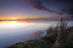 Заход солнца озера Tuggerah Стоковое фото RF