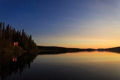 Заход солнца озера Ulen Стоковое Изображение RF