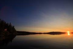 Заход солнца озера Ulen Стоковые Изображения RF