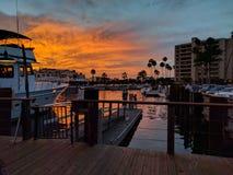 Заход солнца дока Калифорнии Стоковое Изображение