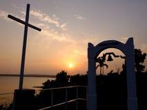 Заход солнца Окинавы Kanna Стоковые Фото