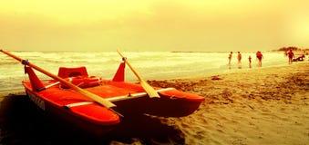Заход солнца около Венеции Стоковые Изображения RF