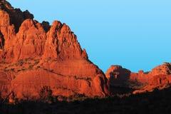 Заход солнца около пункта цыпленка, Sedona, AZ Стоковые Фотографии RF