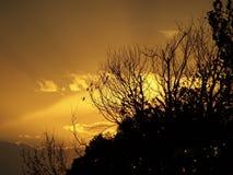 Заход солнца Оклахома Стоковая Фотография RF
