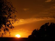 Заход солнца Оклахомы Стоковые Изображения RF