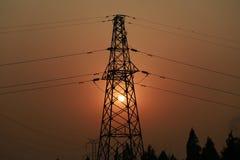 Заход солнца опоры Стоковые Фотографии RF