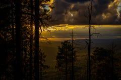 Заход солнца оправы Mogollon Стоковое фото RF