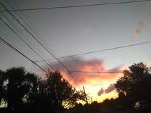 Заход солнца Орегона стоковое изображение rf