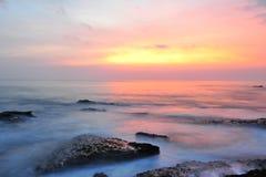 Заход солнца острова Бали. Стоковые Изображения