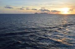 заход солнца острова Крита Греции среднеземноморской Стоковое Изображение RF