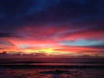 Заход солнца острова пасхи Стоковое фото RF