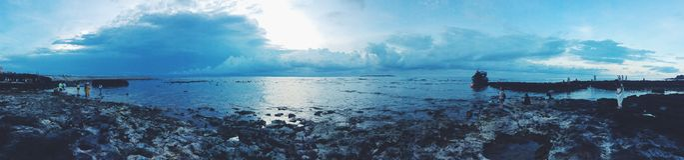 Заход солнца острова сына Ly Стоковое Изображение RF