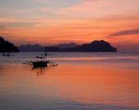 заход солнца острова тропический Стоковое Изображение RF