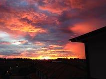Заход солнца от балкона Стоковая Фотография RF