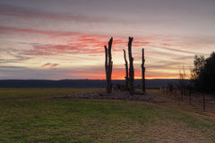 Заход солнца от взглядов Penrith к голубым горам Стоковые Фото