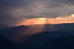 Заход солнца от глаза ` s орла Стоковое Изображение