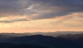 Заход солнца от глаза ` s орла Стоковое фото RF
