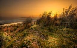 Заход солнца от сицилийских холмов Стоковые Фото
