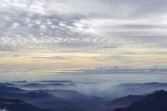 Заход солнца от утеса Moro Стоковое фото RF