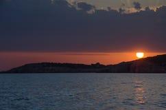 Заход солнца от Черногории Стоковая Фотография