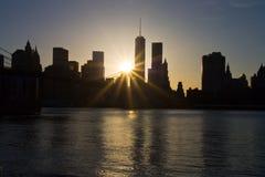 Заход солнца от Dumbo стоковое фото rf