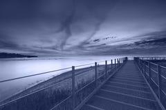 Заход солнца от Lake Erie Стоковое Изображение