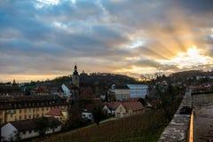 Заход солнца от Michaelsberg стоковая фотография rf