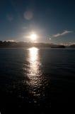 Заход солнца от Plancius стоковое фото