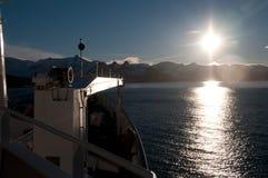 Заход солнца от Plancius стоковое изображение rf