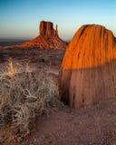 Заход солнца долины памятника Стоковые Фотографии RF