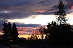 Заход солнца 2 долины Rincon Стоковое Изображение