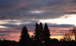 Заход солнца 11 долины Rincon Стоковое фото RF